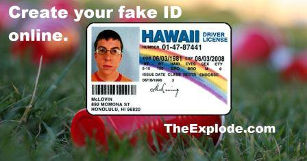 Create your own fake id now online by some Fake ID websites