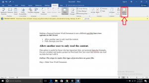 password protect word document