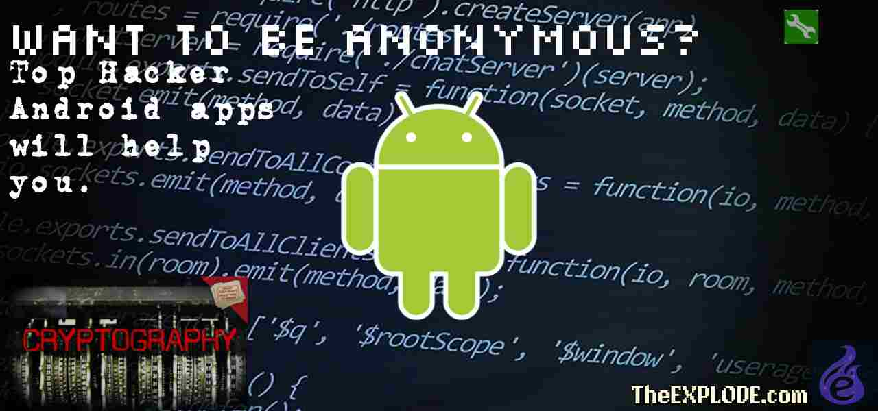 Top Hacker Android apps will help you.