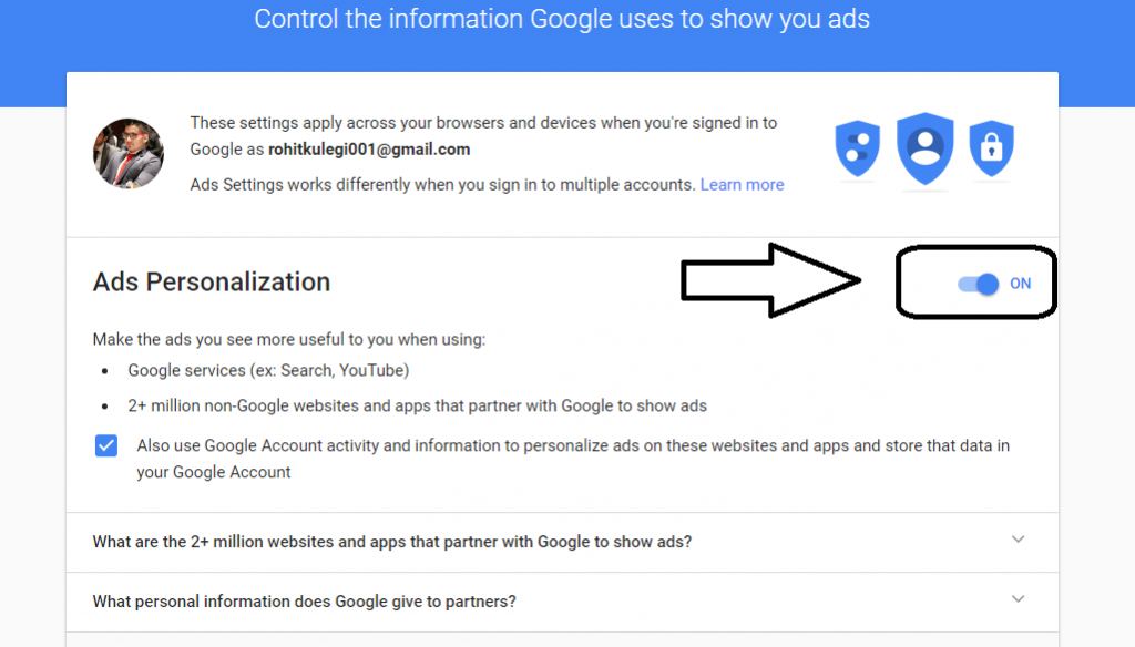 How to find What Google stores related to you?