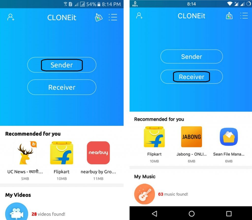 how to clone a phone-transfer android to android