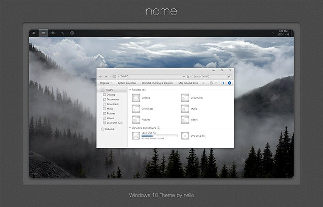 Nome WIndows 10 Custom theme