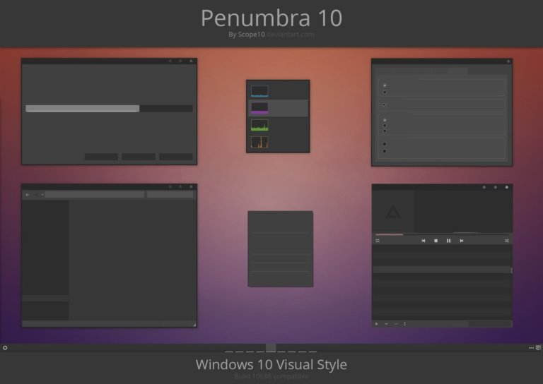 Penumbra 10 Windows 10 theme