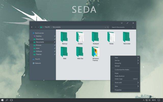 Seda Windows 10 Custom Theme