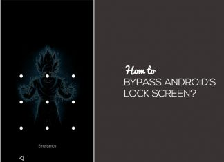 how to bypass android's lock screen